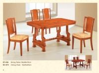 木制长方餐桌 356 / 餐椅 973