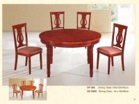 木製圓桌 393 / 餐椅 9265
