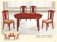 木制椭圆桌 385 / 餐椅 9236