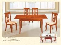 木制长方形伸缩桌 389 / 餐椅 947