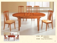Wood Extension Table Chair Set