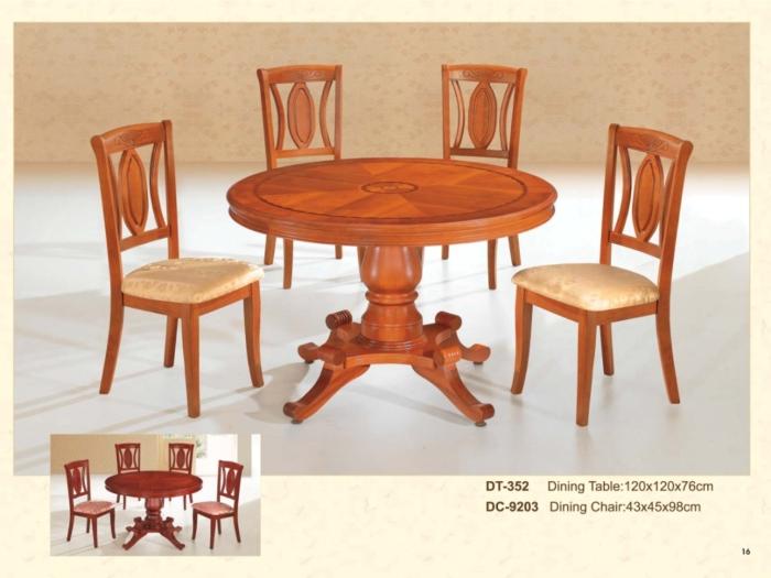 木制圆桌 352 / 餐椅 9203
