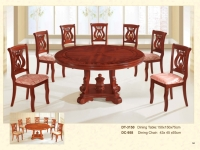 木制圆桌 3150 / 餐椅 958