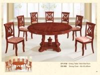木製圓桌 3150 / 餐椅 958