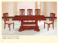 Wood Rectangular Table Chair Set