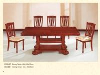 Wood Rectangular Table Chair Set