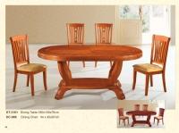 木製橢圓桌 3101 / 餐椅 986