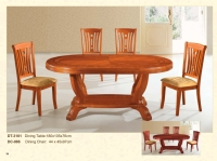 Wood Oval Table Chair Set
