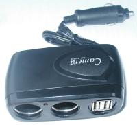 2穴USB充電器(3A)+(2孔)電源插座