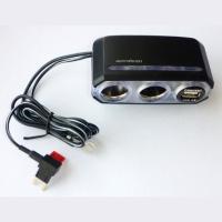 USB + dual-socket adapter (w/fuse box)