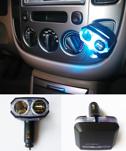 USB charger + adapter