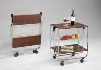 折叠木制餐车