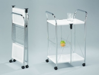 Foldable Steel Plate Serving Trolley