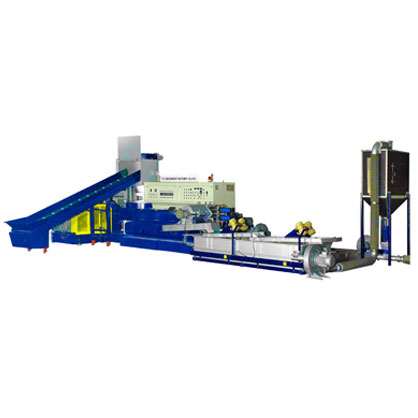 WATER COOLED PLASTIC WASTE RECYCLING MACHINE