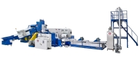 TWO STAGE PLASTIC RECYCLING MACHINE
