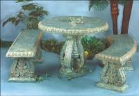 Ploy Stone Bench/Ploy Stone Table