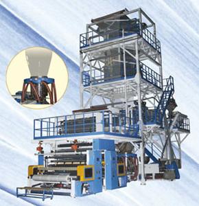 3-Layer Co-extrusion Blown Film Machine with PIB Liquid Pump System