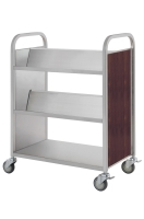 Three-tier.Tilt-shelf AND FLAT Book Trolley