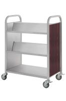 Three-tier.Tilt-shelf AND FLAT Book Trolley