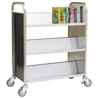 Three-tier, Tilt-shelf Book Trolley
