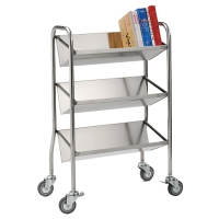 Single-sided, Tilt-shelf Book Trolley