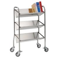 Single-sided, Tilt-shelf Book Trolley