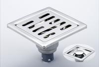 御品師 9x9 內按壓式附蓋防蟲、防臭地板落水頭 (長條孔)