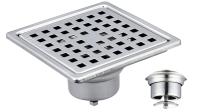 御品師 10x10防臭、防蚊水門型地板落水頭 (方型孔)
