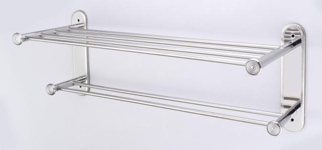 2-Tier Stainless-Steel Bathroom Shelving