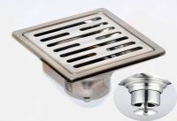 御品師 10x10防臭、防蚊水門型地板落水頭 (長條孔)