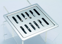 御品師14X14 防蟑防臭水門型不銹鋼歐式地板 (長條孔)