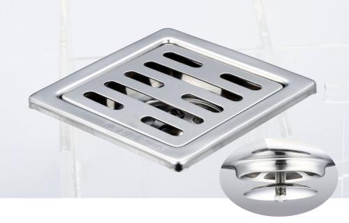 御品師 9x9 自動防臭、防蚊地板落水頭 (長條孔)