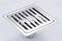 御品師 10x10 內按壓式附蓋防蟲、防臭地板落水頭 (長條孔)