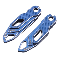 CNC machined Rhine stone folding foot pegs (2 color)