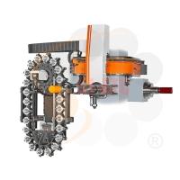 臥式搪床軌道式機械手刀庫
