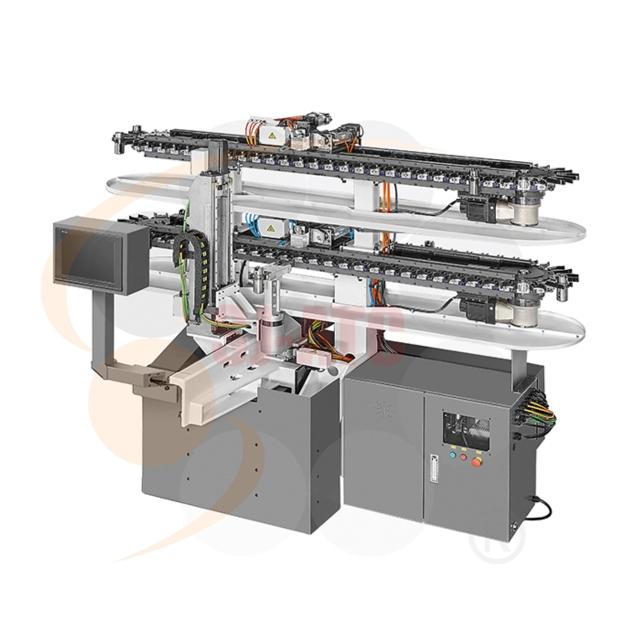 五軸加工中心機用平置式鏈條刀庫