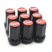 H17 Hexagon Wheel Lug Nuts Red Closed End