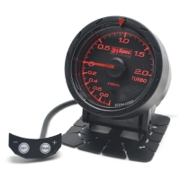 Distinct Racing Gauge 52mm Black