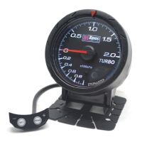 Distinct Racing Gauge 60mm Black