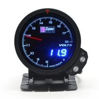 三代高準度賽車錶 黑面 60mm 【電壓錶】