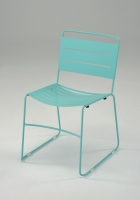 All Metal Stacking Chair