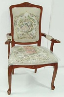 FRENCH STYLE CHAIR WITH STOOL