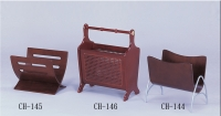 Classic Wooden Magazine Racks/Wall-mounted Miniature Curio Cabinet
