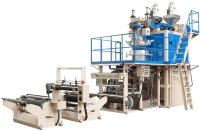 Downward Two Layers PP / PE Tubular Blown Film Co-Extrusion Line