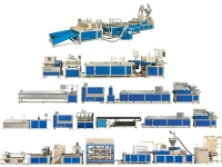 PVC / PP / PE / ABS Building, Trunking Profile Extrusion Machine Line