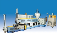Two-stage waste recycling machinery