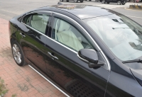 Window Visor , window Deflector, Rain Guard with chrome molding