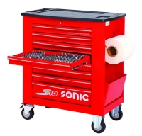 SONIC 8Ds 274pc tools S10 trolley (red)