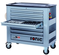 SONIC 8Ds 575pc S11 tools trolley (grey)
