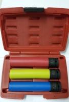 3Pcs 1/2 DR. 150L Special Wheel Nut Impact Socket Set